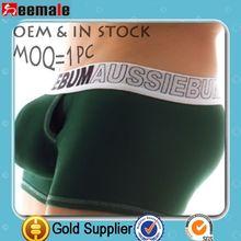 En Stock Aussie Hombre Ropa interior 100% tela de algodón de la cubierta del pene Boxer Shorts SC30