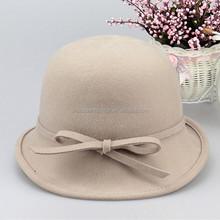 Lastest Design Headwear Decorate Girls Wool Felt hat/Winter Hat/Felt Hat Manufacturer