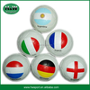 Rubber football with flag printed