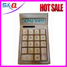 desktop wooden calculator solar cell FOB price for sale silicone calculator