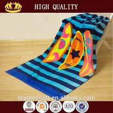 2015 new design antibacterial surf brand beach towels with low price