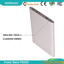 2015 Mobile Charger PB20D Colorful 20000mah Li-Polymer Rubber Protect Case