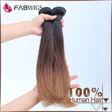 Fabwigs top quality 1B 4 30 color 3 tone silk straight ombre colored human hair weave