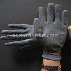 latex working glove rubber glove winter fleece glove winter work glove
