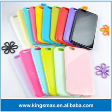 various colour jelly case TPU Jelly soft cover for iphone 6