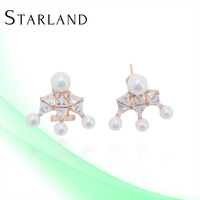 Starland Silver Jewelry Shell Stud Earring Base CAE1496