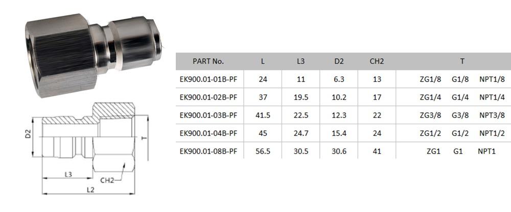 Американский тип латунь non-valved быстрого отсоединения гибкая гидравлическое устройство быстрой муфтой