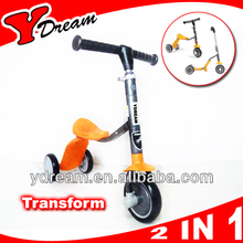 Folding Inline Push Scooter 3 Wheels/Tri Adjustable Kids Children Boys Girls New