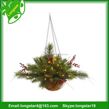 Holiday popular wholesale plastic christmas wreath decoration