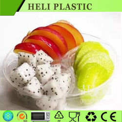 disposable clear plastic salad tray
