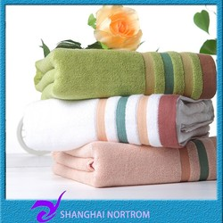 china Factory wholesale High Quality Thickness plain dyed Bamboo fiber bath towel