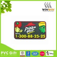 Fast food of pizza PVC fridge magnet