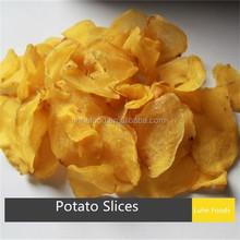 2-3mm latest crop xinghua air dried potato slices dark yellow