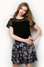 Alta moda 2015 nuevo estilo blusa mujeres formal blusa de la gasa venta al por mayor