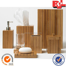 Cheap bamboo bathroom accessories online/bamboo accessory set