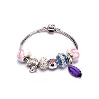 hot sale set auger ceramic bead amethyst alloy bracelet fashion temperament bracelet