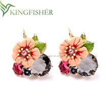2015 Newest design austrian crystal earrings ,Fashion jewelry wholesale rhinestone women fashion earring!!