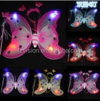 Wholesale Butterfly Fairy wings Halloween Party costumes for kids