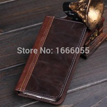 Book Wallet Leather Case for iPhone6 for iPhone6 Plus 5 5S 4S Cell Phone Classic Credit Holder Flip Cover Case + Protective Film