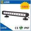 Jinchu 12v 17 inch led 100W Led Light Bar for ATV led light bar single row,car thin led light bar with CE certification