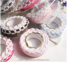 Cotton lace trim sewing material for clothing lace fabric