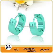 shiny bright green fashion letter big pron piercing wedding earrings