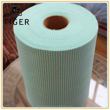 viscose and polyester spunlace nonwoven fabric jumbo roll for kitchen wipes