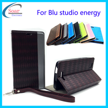 Top quality strong magnetic flip leather case cover for Blu studio energy/D810 wallet cell phone case