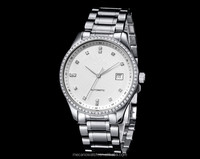 2015 Luxury Water Resistant Watch Japan Quartz Mov't Watches Silver Stainless Steel Watch