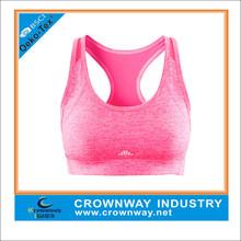 Customized wholesale sports bra for women, Racerback yoga bra with reflective printing