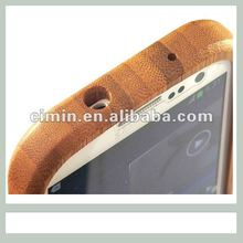 Protective case for samsung galaxy s3 bamboo&wood