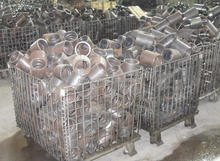 Metal storage container for machinery components storage