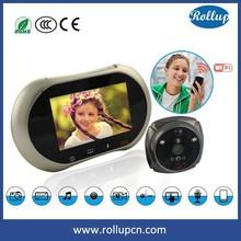iOS / Android smart phone wireless digital door viewer mini wifi camera ,peephole door camera