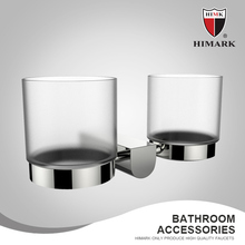HIMARK Wall mounted bathroom cup holder with double glasses