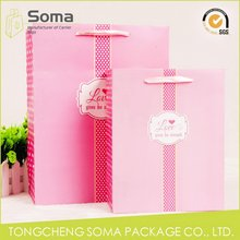 Special hot sell folded christmas paper gift bag