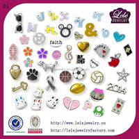 High end quality charms in stainless steel floating charms locket wholesale custom made jewelry charm