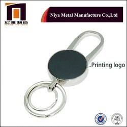 Best price printing or laser logo key chian and keyring, keys fob with core rings