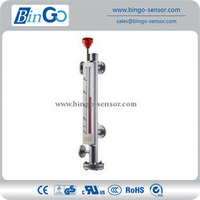 Round top 4~20mA magnetic level indicator for liquid level or pressure vessel