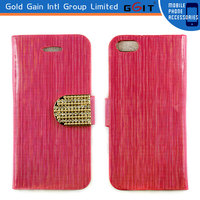 Diamond Wallet Leather Flip Case Cover For iPhone 5 Flip Cover