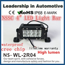 4Inch 24W LED Light Bar Dual Row auto 4x4 accessories LED Offroad Light Bar Wholesale