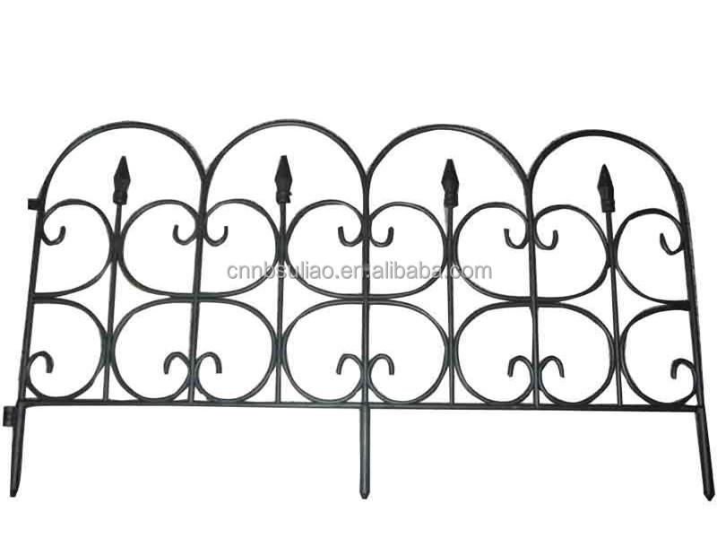 cerca de jardim ferro:Decorative Plastic Garden Fence