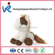 New Cuddle Brown & White Horse Pony Plush Lovely Toy