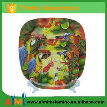 High quality melamine square plate , square melamine salad plate
