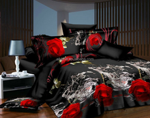 3d black flower cotton prints fashion adult applique wedding plaid king size fitted bedspread