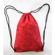 Promotional Brand Cotton Cord Closure Nylon Drawstring Backpack
