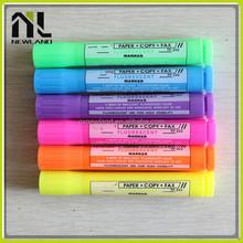 New arrivel custom bright-colored overstriking Highlighters plastic custom advertising permanent marker free pen sample