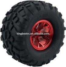 1/10 RC Monster Bigfoot Truck Tyres Drifts Car Wheel Tires 4pcs/lot Dia 130mm - kbw0022b red