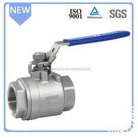 Standard Medium pressure manual ball valve DN20 water valve Stainless steel 2pc ball valve