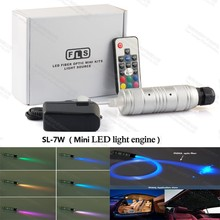 12v 24v 7W mini Round fiber optic led projector generator light engine