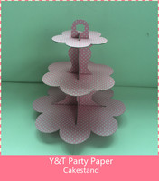 3layer cakestand dot design welcome customized deisgn and shape
